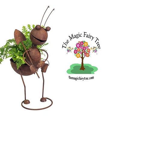 Rusty Ant with Shovel Planter