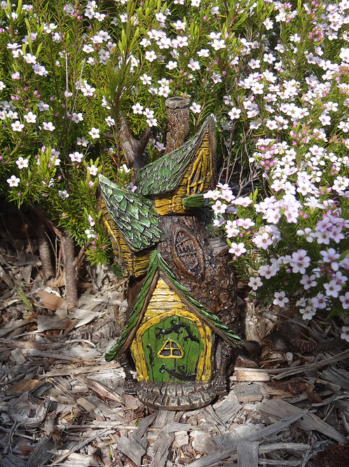 Fiddlehead Village Treehouse with opening door