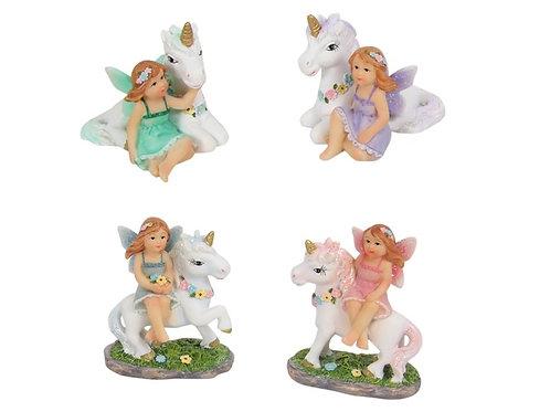 5cm fairy and unicorn friend figurines