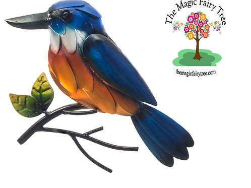 Azure or Sacred Kingfisher wall plaque