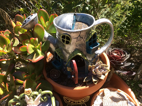 Fiddlehead Watering Can House with Opening Door