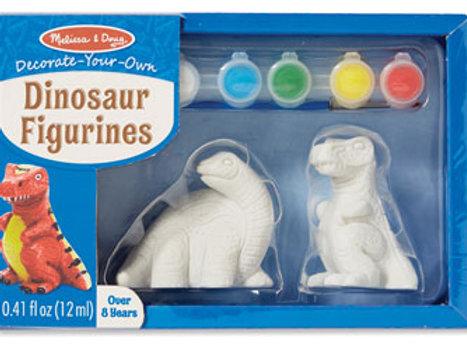 Melissa & Doug Decorate Your Own Dinosaur Figurines