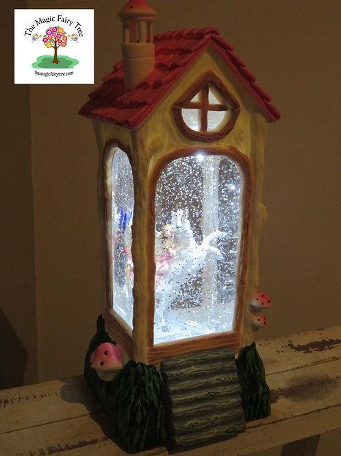 Fairy House Lantern - Rearing Unicorn Design
