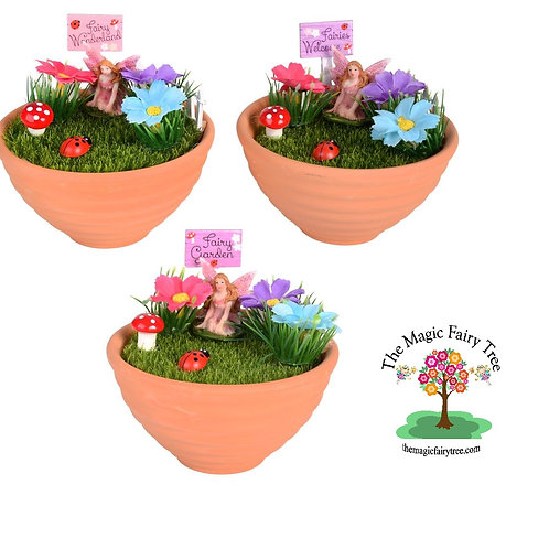 11cm Fairy Wishes Mini Garden Pot