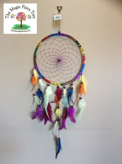 27cm rainbow multi colour dreamcatcher