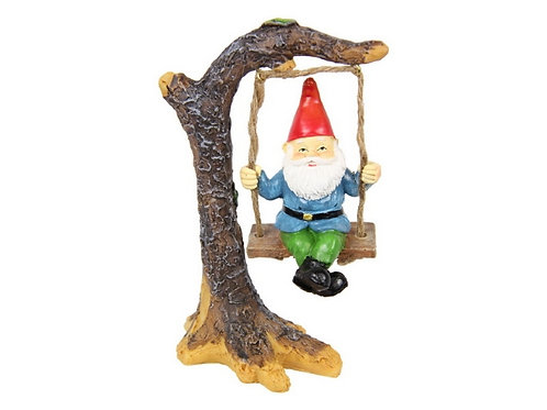 13cm gnome on a swing