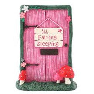Shh Fairies Sleeping Fairy Door - 11cm