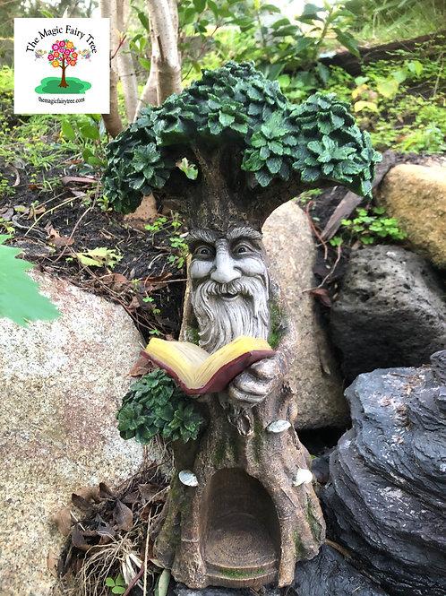 Solar Green Man Dryad Reading Book