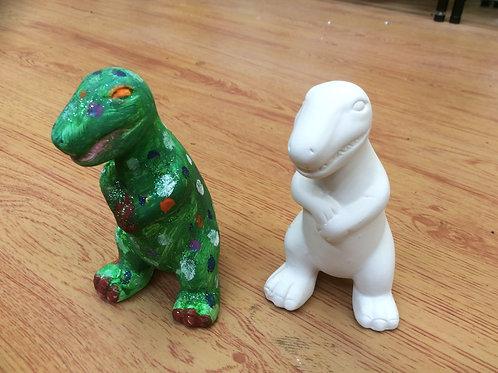 Ceramic T Rex tyrannosaurus dinosaur figurine