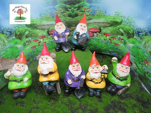 7cm miniature gnome figurines