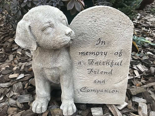 21cm Dog Pet Memorial