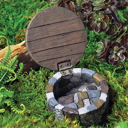 Fiddlehead Gnome Hatch with Opening Door