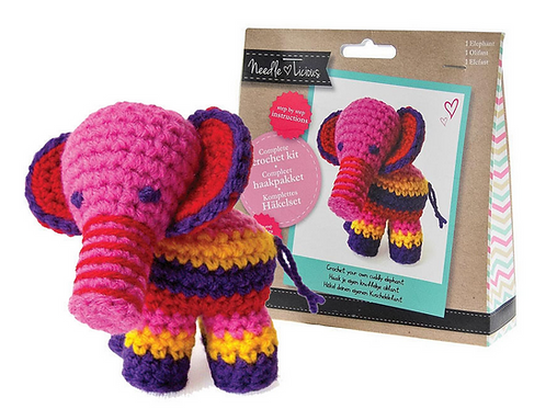 Needlelicious Elephant Crochet Amigurami Kit
