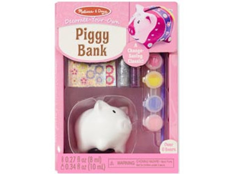 Melissa & Doug Decorate Your Own Piggy Bank