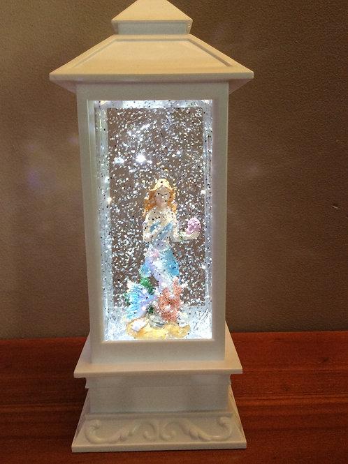 White Mermaid LED Lantern