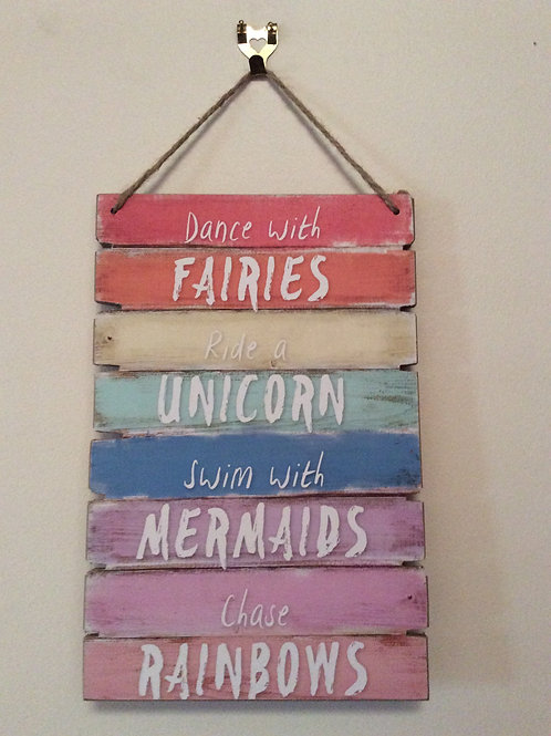 30cm Fairy Unicorn Mermaid Wall Plaque