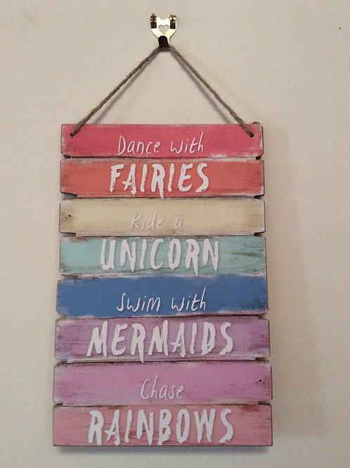 30cm Fairy Unicorn Mermaid Wall Plaque