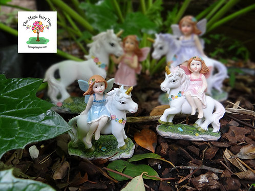 Fairy riding unicorn -Fairy Friends Family 10cm, 15cm