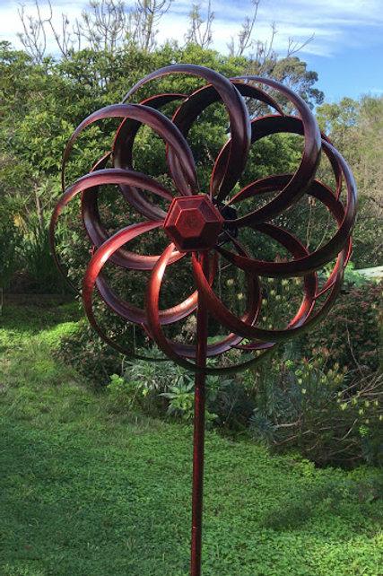 Round Metal Windmill