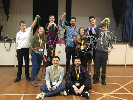 Students at Exeter Deaf Academy with dream catchers