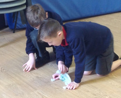 learnt how to move bag puppets