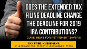 Does the Extended Tax Filing Deadline Change The Deadline for 2019 IRA Contributions?