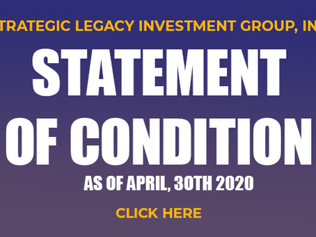 PRESS RELEASE:  Statement of Condition