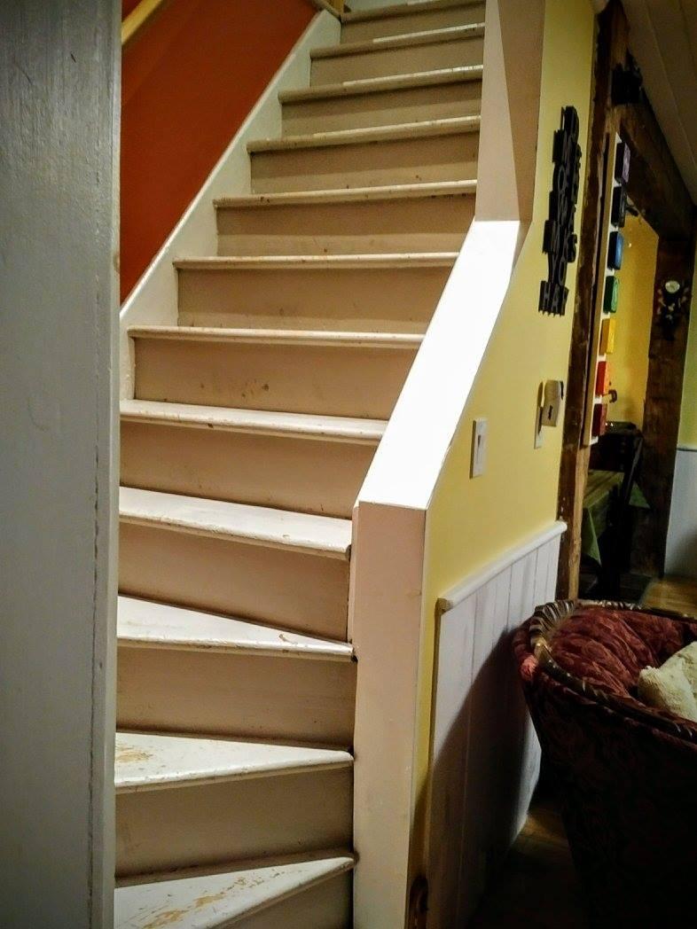 Steep set of stairs