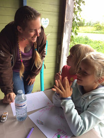 Arts and craft time at camp