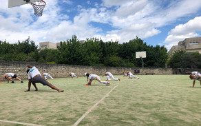 Capoeira training in openlucht