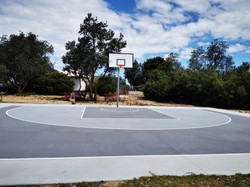public use basketball court near shops