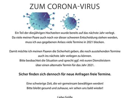 AKTUELLE INFORMATION ZUM CORONA-VIRUS