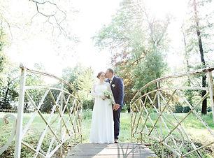 Brautpaar Shooting auf einer Brücke in Braunschweig
