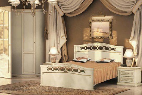 Спальня Сильвия белая