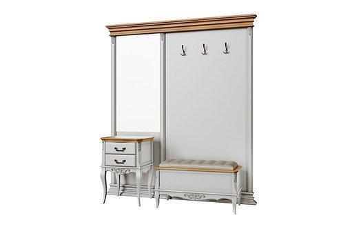 Панель с зеркалом и крючками (в цену не входит тумбочка и обувница)