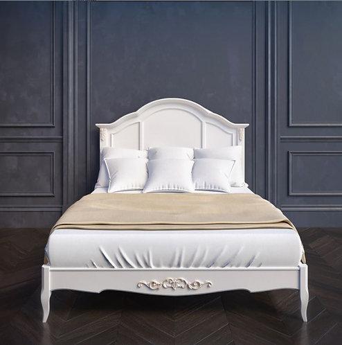 Кровать с деревянным изголовьем 120*200, с ортопедическим основанием