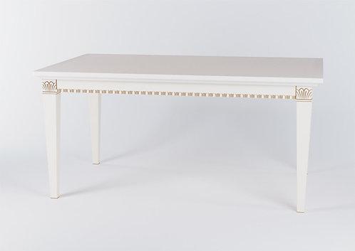 Стол прямоугольный раскладной 160см белый