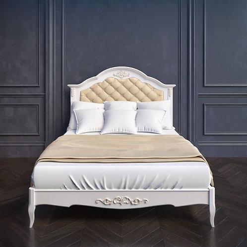 Кровать с мягким изголовьем 90*200, с ортопедическим основанием