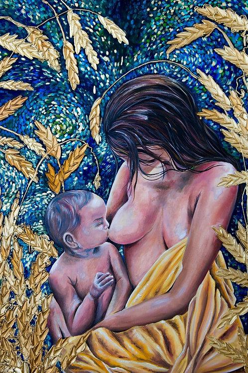 Mother's Love à la Van Gogh