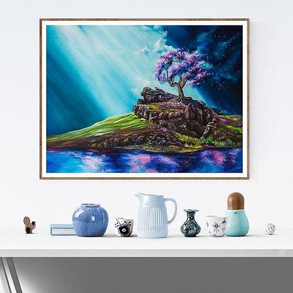 One of my favorite paintings is now hang