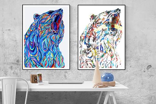 The Bear (in blue or rainbow)