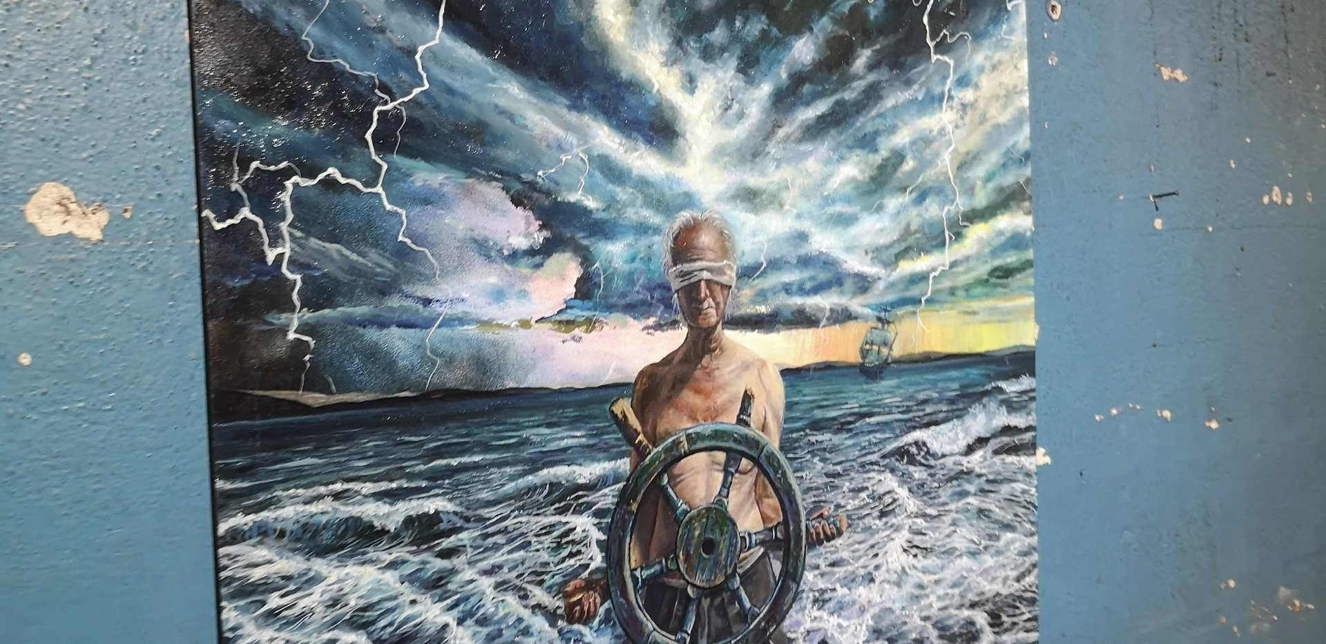 The Captain nagivates