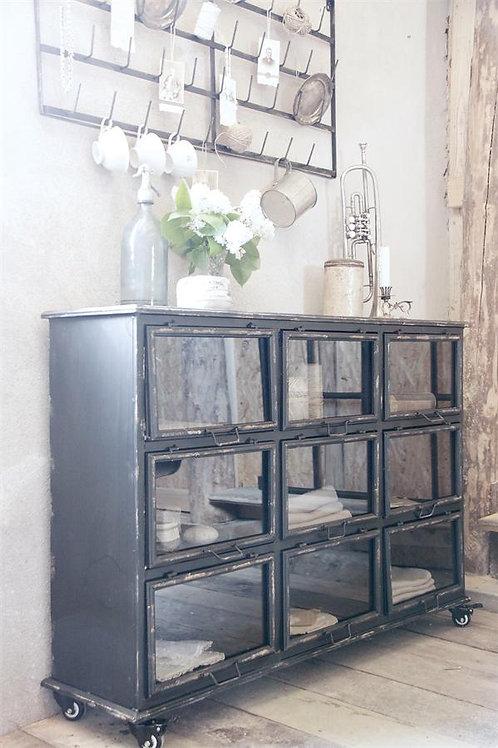 Metal Cabinet - black patina