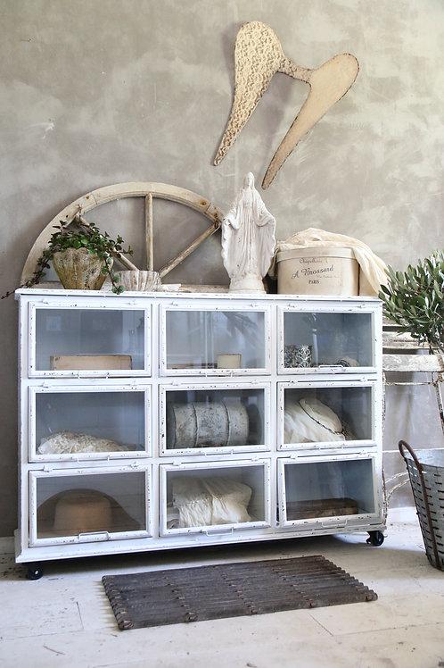 Metal cabinet - White patina