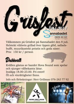Affisch Grisfest
