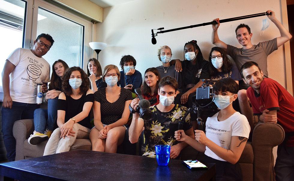 Les étudiants font un tournage