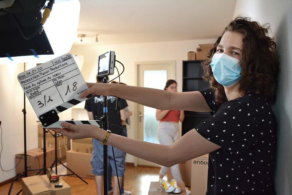 Les étudiants font du cinéma avec pierrot productions