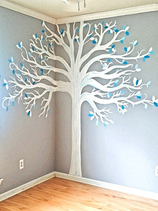 Baby Boy Nursery- Tree