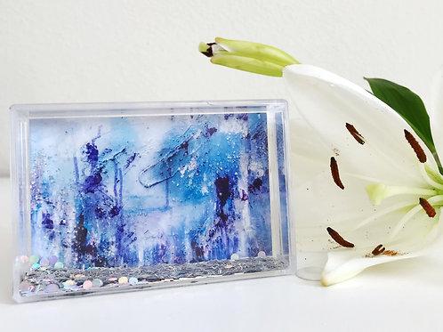 Mini Silver Glitter Framed Art Print, Assorted Prints