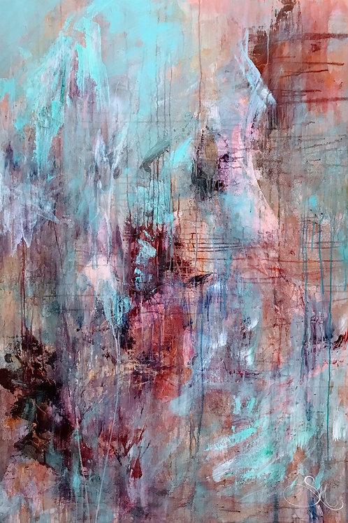 Bold Flesh Abstract Print